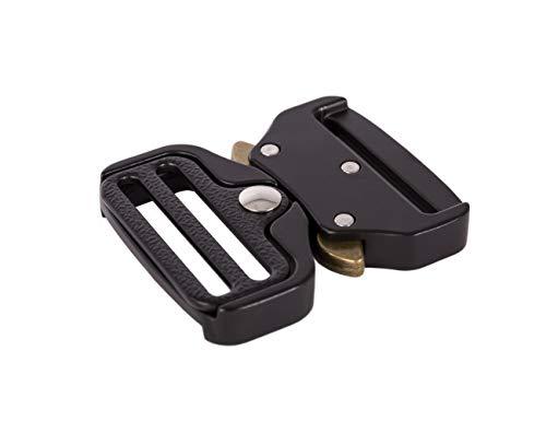 Shenky - Hebilla metálica - Para cinturón militar y correas de 4cm de ancho