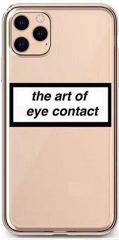 ITGM iPhone 11 Schutzhülle The Art of Eye Contact TPU Hülle Cover Handyhülle Bumper leichte Handytasche Hülle mit Foto Silikon Case Hüllen Sorgen für kratzfesten Schutz (iPhone 11, EyeContact)