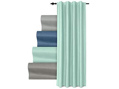 npluseins Vorhang mit Universalband - verdunkelnd Metallic glänzend 1462.2066, Mint