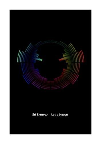 Ed Sheeran Lego House - Impresión artística de vectores de ondas sonoras (tamaño A4), diseño de casa de Lego