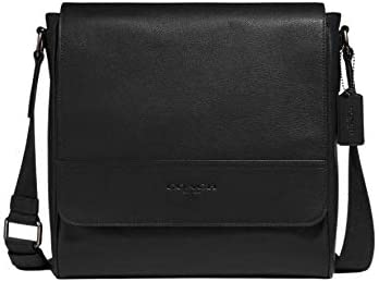 Houston Map Bag Leather Black