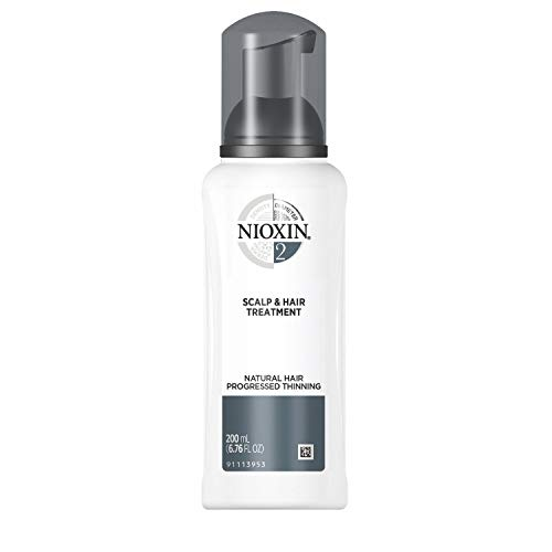 Nioxin System 2 Scalp & Hair Treatment for Fine/Natural Hair with Progressed Thinning, 6.8 oz