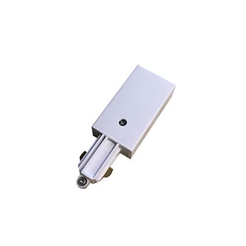 Lampenlux 1-Phasen Stromschiene Aufbauschiene und Zubehör (Weiß, Einspeisung Links)