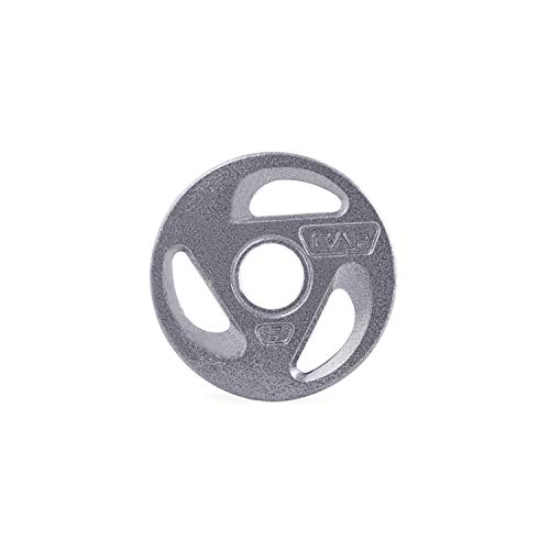 CAP Barbell 2-Inch Olympic Grip Weight Plates, Single, Gray, Various Sizes, 5 lb