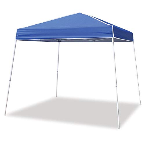 Z-Shade 12 x 12 Foot Horizon Adjustable Angled Leg Instant Shade Outdoor Canopy Tent Shelter with Steel Frame and UV Protection, Blue
