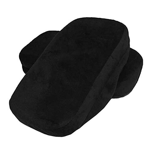 yotijar Almohadillas de Espuma de Memoria para apoyabrazos de Silla para Codos y antebrazos Funda de Espuma de Alivio de presión Universal extraíble - Negro
