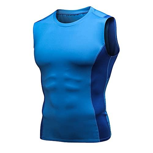 Sportiva Shirt Uomo Estate Moda Girocollo Splicing Slim Fit Senza Maniche Uomo Shirt Moderna Basic Stretch Uomo Tank Top Palestra Allenamento Asciugatura Rapida Funzionale Shirt