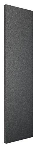 Wohnraum-Heizkörper Milano, Mittelanschluss, 180x60 cm, 1070 Watt Leistung, pearl schwarz, Design-Heizkörper für Zweirohrsysteme