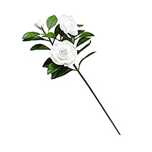 LIOOBO Artificial Flower Fake Gardenia Simulation Flower Faux Gardenia Flower for Home Hotel Office Wedding Party Decor