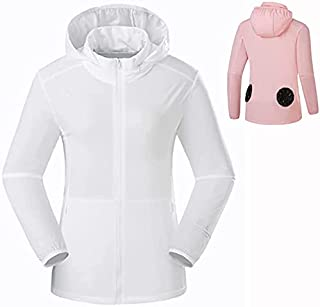 JEANMISS Fan Cooling Jacket Clothes Workwear Coat with 2 Fan 3 Speed Adjustable USB Rechargeable for Outdoor Hot Temp Work...