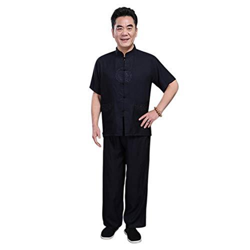 Xinvivion Tang Anzug Männer Chinesische Traditionelle Kleidung Anzüge Hanfu Kurzarm Shirt Herren Tops und Hosen