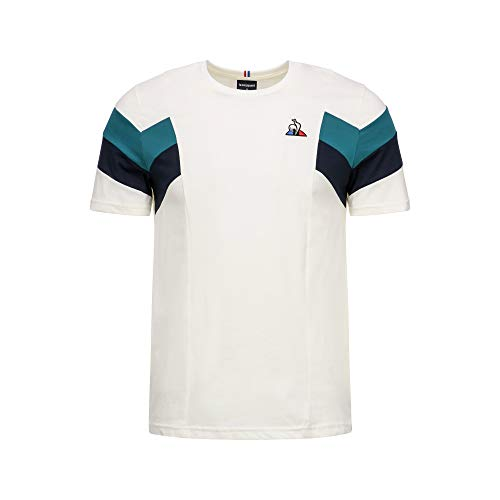Le Coq Sports 1923186 - Camiseta de manga corta para hombre, 1923186_XL, Bianco, X-Large