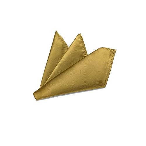 Rusty Bob Rusty Bob - Einstecktuch einfarbig - Tuch aus Polyester - Kavalierstuch Pochette Stecktuch - Taschentuch - Gold