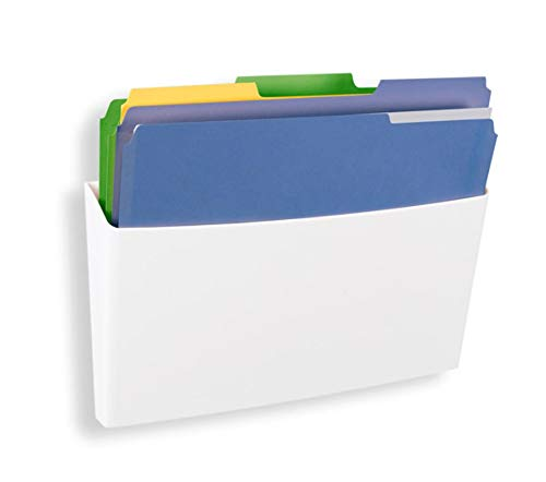 GlasMag Magnetic File Holder Tray. Powerful Neodymium Magnets Hold 200+ Sheets of Paper to Glass Whiteboards or Any Other Magnetic Surface