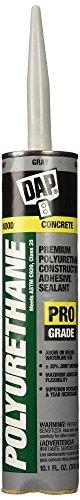 Dap 18814 12 Pack 10.1 oz. Premium Polyurethane Construction Adhesive Sealant, Gray