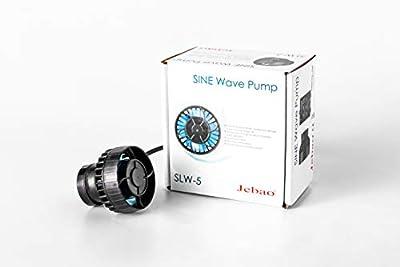 Jebao SLW Wave Maker Flow Pump with Controller for Marine Reef Aquarium (SLW-5, 792 GPH), Black