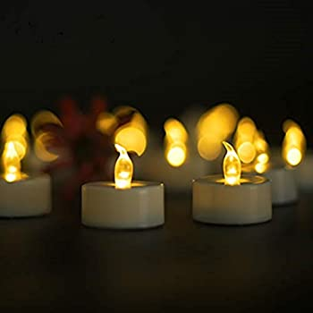 Tea Lights,LED Tealight Candles 100-pack,Flameless Candles,Flickering Tea Candles Battery Included as Halloween Lights,Pumpkin Decoration,Holiday,Garden,Wedding,Party,Décor Warm Yellow Light)