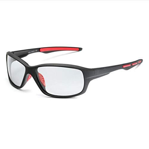 ZYIZEE Gafas de Sol Lentes Deportivas Que cambian de Color Gafas fotocromáticas polarizadas Montar Pesca Ciclismo Gafas de Sol Conductor Goggles-A