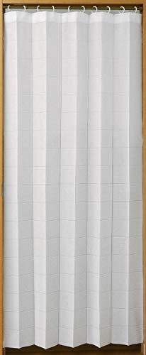 パタパタカーテン マルチ 3way アコーディオン 間仕切り 省エネ 目隠しカーテン 幅100cm×丈250cm ホワイト
