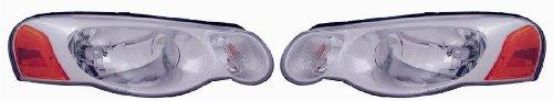 04-06 Chrysler Sebring Convertible Sedan Headlights Headlamps Lights Lamps Pair