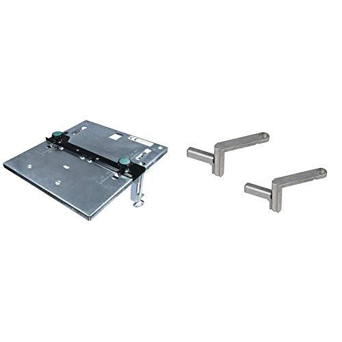 Wolfcraft 6197000 1 Stichsägetisch + Wolfcraft 6176000 Schnellspanner für alle Werktische mit 20 mm Bohrungen