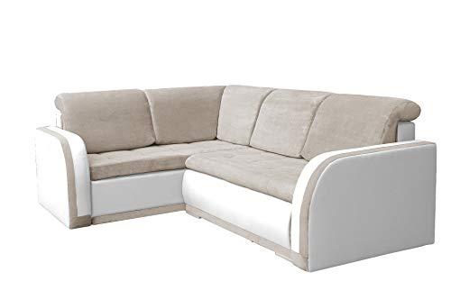 mb-moebel Ecksofa Sofa Eckcouch Couch mit Schlaffunktion und Bettkasten Ottomane L-Form Schlafsofa Bettsofa Polstergarnitur - VERO III (Ecksofa Links,...