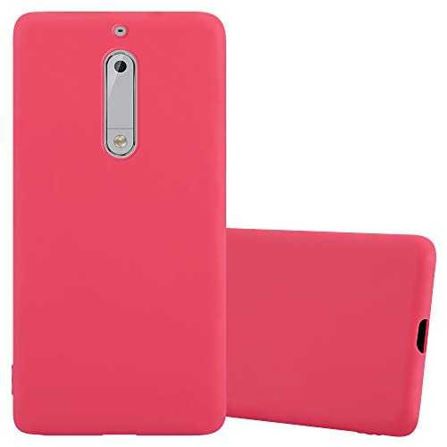 Cadorabo Funda para Nokia 5 en Candy Rojo - Cubierta Proteccíon de Silicona TPU Delgada e Flexible con Antichoque - Gel Case Cover Carcasa Ligera