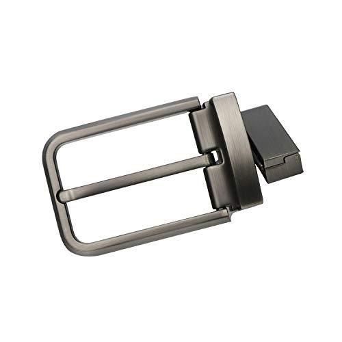 BIGHAS ベルト バックル 単品 ピン式 35mm 本革 メンズ ベルト 回転可能 ビジネス カジュアル 兼用 バックルのみ ベルトのみ 交換用 箱付き (バックル, 200灰色)