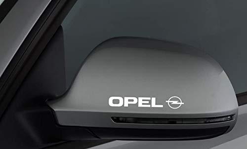 "myrockshirt 2 x Spiegel Aufkleber Spiegelaufkleber OpelAufkleber Autoaufkleber Auto Tuning Sticker Aufkleber mit Montage Set inkl. Estrellina-Montage-Rakel® & ""Estrellina-Glücksaufkleber®"""