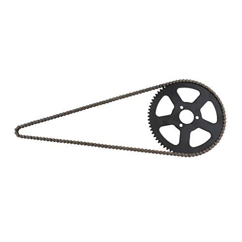 Sharplace 1 Stück 25H 68 Kettenglied + 68 Zähne Kettenrad für 2-Takt 49cc Pocket Bike HIGH Road