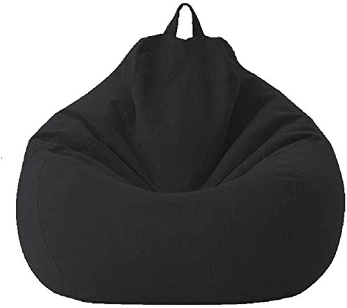 WERT Bean Bag Chair Cover Only, Large Washable Memory Foam Furniture Bean Bag, Classic Lazy Lounger Bean Bag Storage Chair for Adults and Kids, Without Bean Filling