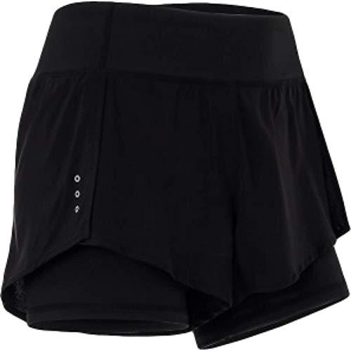 Pantalones Cortos Deportivos para Mujer con Costura en Contraste de Color Cintura elástica cómodo Estiramiento de Verano de Secado rápido Pantalones de Yoga Fitness X-Large