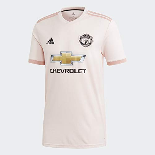 adidas Men's Soccer Manchester United FC Away Jersey, Icey Pink, XX-Large