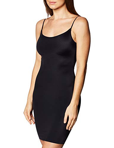 Vassarette Women's Invisibly Smooth Full Slip 10345, Black Sable, Small