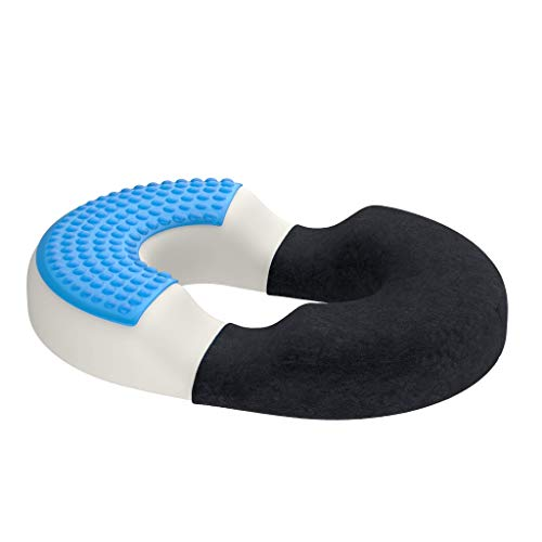 bonmedico Orthopädisches Hämorrhoiden-Sitzkissen mit innovativer Gel-Schicht, Sitzring wirkt schmerzlindernd, auch zur Steißbein-Entlastung für Auto, Sofa, Büro & Rollstuhl, Large
