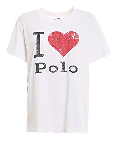 Polo Ralph Lauren T-Shirt Donna Mod. 211-752366 Bianco XXS