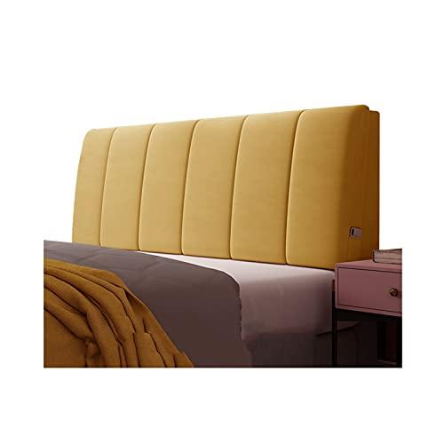 Kopfteil Kissen Rückenkissen Rückenlehne Lendenkissen, Einfache Moderne Bedside Soft Case Leichentuchkissen, Weiches Anti-Kollisions-Waschbares, Anpassbar PENGFEI (Color : Yellow, Size : 90cm)
