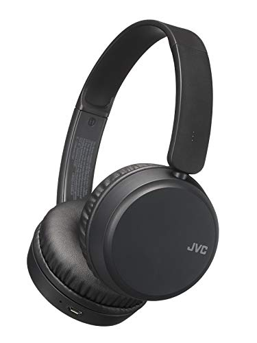 JVC Deep Bass Wireless Headphones, Bluetooth 4.1, Bass Boost Function, Voice Assistant Compatible, 17 Hour Battery Life - HAS35BTB(Black)