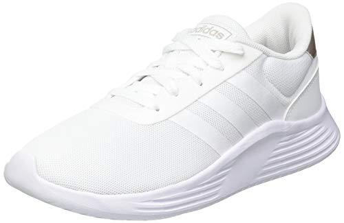 adidas Damen Lite Racer 2.0 Sneaker, Grey/Cloud White/Champagne Metallic, 39 1/3 EU