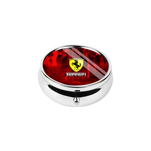 Ferrari Organizador semanal de píldoras, caja de almacenamiento transparente para viajes, 7 días, para medicamentos, vitaminas, aceite de hígado de bacalao, suplementos