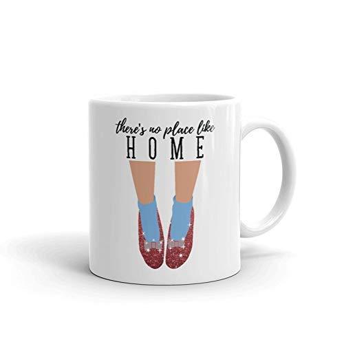 N\A Tazas de cerámica No Hay Lugar como el hogar El Mago de Oz Película Película de fantasía Regalos de Dorothy-Gale Taza de café Divertida Tazas de té 11 oz