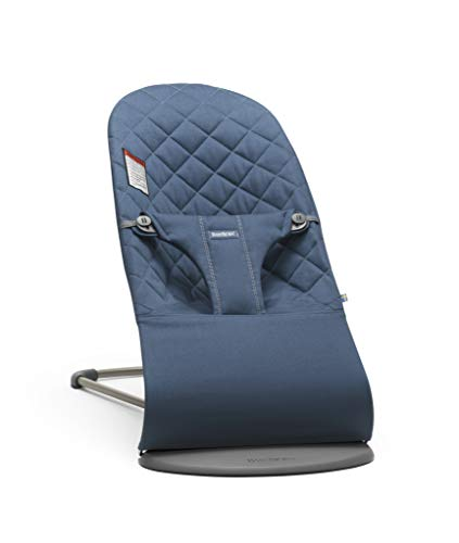 Big Save! BABYBJÖRN Bouncer Bliss, Cotton, Midnight Blue