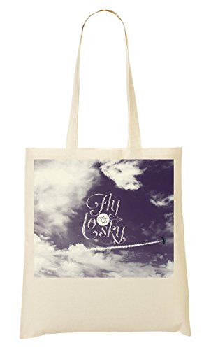 Relax In Heaven | Fly To The Sky | Osom Phrases | Popular Quotes | Beautiful View | Super | Cool T Shirt | Yolo Swag Sacchetto Di Tote