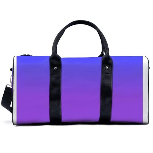 Borsone sportivo da palestra Potable Sport Duffel Bag Neon Viola e Luminoso Neon Blue Borsa Yoga Borsa Borsa a Spalla Borsa Da Viaggio Grande Capacità Borsa per Uomini Donne