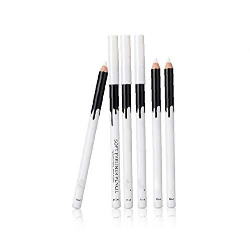 Lápiz delineador de Ojos Blanco, Liso Impermeable cosmético Profesional de resaltado Eye Liner Pluma Herramienta de la Belleza Maquillaje Duradero Delineador de Ojos para la Mujer
