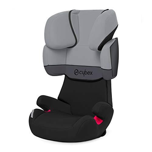 Cybex Silver Solution X-Fix, Seggiolino Auto per Bambini, Gruppo 2/3/15-36 kg, da 3 fino a 12 Anni Circa, senza ISOFIX, Grigio/Cobblestone/Light...