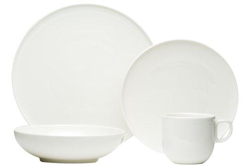 Red Vanilla Everytime White 24-Piece Dinnerware Set