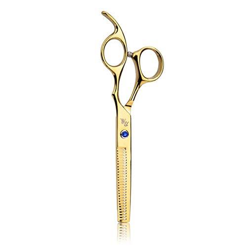 Piero Haarschaar 6 Inch Professionele kappers Knippen Styling Staal Dunner Schaar Haar Rechte Kapper Salon Set, Gouden tandenknipper, China