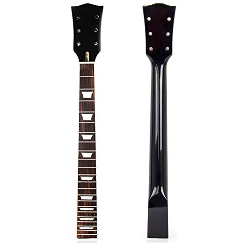 ExH Manico per chitarra elettrica, manico per chitarra elettrica in palissandro in acero per sostituzione di parti di chitarra Tastiera per chitarra a 22 tasti in palissandro