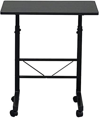 Escritorio de oficina, carro extraíble Mesa portátil Estudio Estación de trabajo Estación de trabajo con lateral de aglomerado y acero; S-Tize; Negro; Moderno escritorio de estilo simple para trabajo